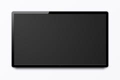 Het brede realistische 4k TV-scherm Vector Illustratie