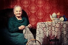 Het breien royalty-vrije stock fotografie