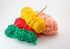 Het breien en crochet royalty-vrije stock foto's