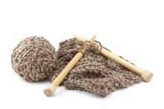 Het Breien van de sjaal Project royalty-vrije stock afbeeldingen