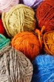 Het breien van de wol Royalty-vrije Stock Foto's