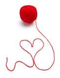 Het breien van de wol hartvorm royalty-vrije stock afbeelding