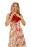 Het breien van een sjaal Royalty-vrije Stock Foto