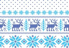 Het Breiende Patroon van de de wintervakantie met Kerstbomen Kerstmis het Breien Sweaterontwerp Wol gebreide textuur royalty-vrije illustratie