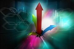 Het breken door aan succes als financiële grafiek Royalty-vrije Stock Fotografie