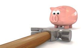 Het breken van de Bank royalty-vrije illustratie