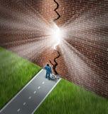 Het breken van de Muur stock illustratie