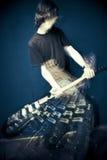 Het breken van de tuimelschakelaar gitaar Stock Foto's
