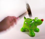 Het breken van de van een hond bank Royalty-vrije Stock Afbeeldingen