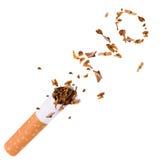 Het breken van sigaret, houdt met op rokend Royalty-vrije Stock Afbeelding