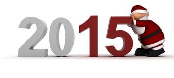 Het brengen in het Nieuwe jaar Stock Foto