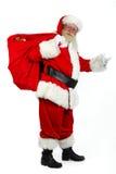 Het brengen van de kerstman stelt voor Stock Foto's