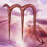 Het briljante symbool van Schorpioen van de dierenriemhoroscoop het 3d teruggeven Stock Foto's
