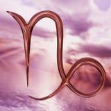 Het briljante symbool van Steenbok van de dierenriemhoroscoop het 3d teruggeven Stock Fotografie