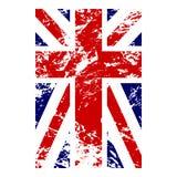 Het Britse ontwerp van vlag verticale grunge Stock Afbeelding