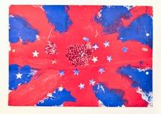 Het Britse vlag schilderen Royalty-vrije Stock Afbeeldingen