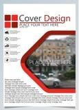 Het brochuremalplaatje voor jaarlijkse technologie bracht reposts, vectorontwerpa4 lay-out met ruimte voor tekst en foto's twee m royalty-vrije illustratie