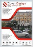 Het brochuremalplaatje voor jaarlijkse technologie bracht reposts, vectorontwerpa4 lay-out met ruimte voor tekst en foto's zeven  royalty-vrije illustratie
