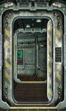 Het broedsel van het ruimteschip en gangachtergrond Stock Afbeelding