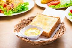 Het brood bakte beboterd vaatwerk royalty-vrije stock foto