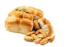 Het brood en de koekjes van het knoflook Stock Fotografie