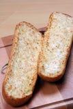 Het brood en de tomaten van het knoflook Stock Afbeeldingen