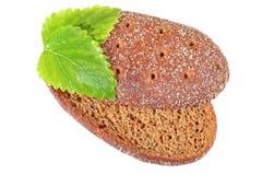 Het brood met citroenbalsem doorbladert Stock Foto