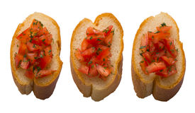 Het brood van Bruschetta Stock Fotografie