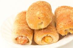 Het brood van de hotdog Stock Afbeelding