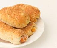 Het brood van de hotdog Royalty-vrije Stock Afbeeldingen