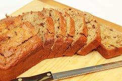 Het Brood van de Noot van de banaan stock foto