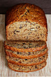 Het Brood van de Okkernoot van de banaan Royalty-vrije Stock Afbeeldingen