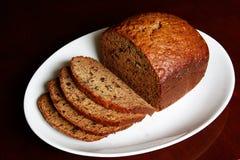 Het Brood van de Okkernoot van de banaan Stock Afbeelding