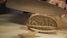Het brood van de rogge stock video