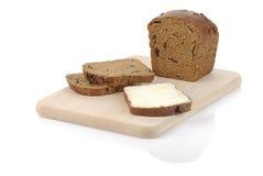 Het brood van de rogge met sandwich op een hakbord Stock Foto's