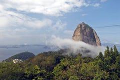 Het Brood van de suiker (Pão DE Açúcar) in Rio de Janeiro Stock Foto's