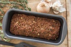 Het Brood van de veganistlinze in Pan Stock Foto