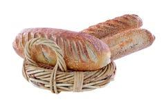Het brood van de zuurdesem op witte achtergrond Stock Afbeeldingen
