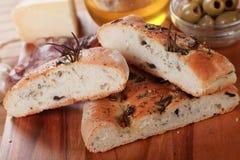 Het brood van Focaccia Stock Fotografie