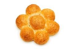 Het brood van het brood dat op de witte achtergrond wordt geïsoleerd_ Royalty-vrije Stock Foto