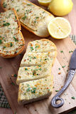 Het Brood van het citroenknoflook Stock Foto