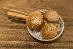 Het brood van het dinerbroodje Stock Foto