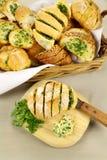 Het Brood van het knoflook en van het Kruid royalty-vrije stock afbeeldingen