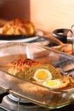 Het brood van het vlees met ei Royalty-vrije Stock Foto's