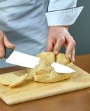 Het brood van kokbesnoeiingen voor het koken gevulde vissen volledige inzameling van culinaire recepten Stock Afbeelding