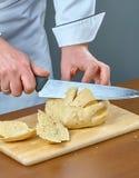 Het brood van kokbesnoeiingen voor het koken gevulde vissen volledige inzameling van culinaire recepten Stock Foto's