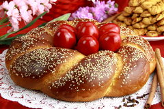 Het brood van Pasen Stock Foto's