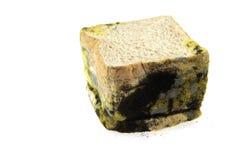 Het brood verliep op witte achtergrond Stock Foto's
