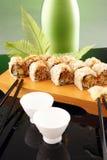 Het broodje en het belang van de paling Stock Afbeelding