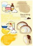 Het Broodje van banaanmascarpone Stock Afbeelding